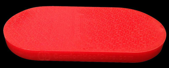 Billede af Sko, flad, blød, rød